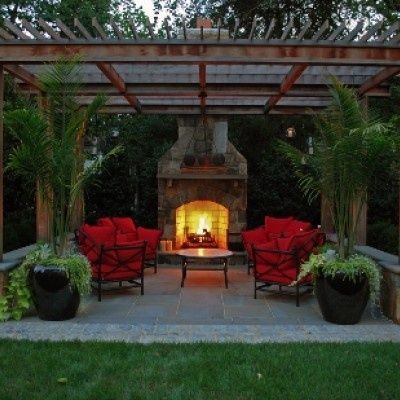 Modern Landscape Design Waverly Way Residence Landscaping Details Md Va Dc Backyard Backyard Fireplace Backyard Patio Designs