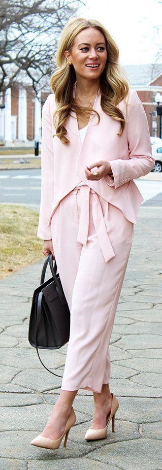Pink On Pink Outfit Idea #Fashionistas
