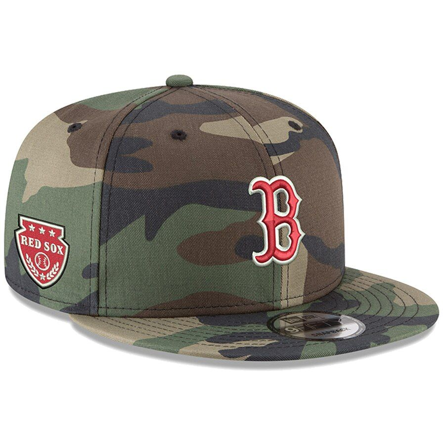 new style 0434d 2efda Men s Boston Red Sox New Era Camo Military Patch 9FIFTY Snapback Hat, Your  Price   31.99