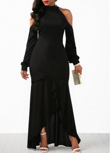 f21058938c3f3 Three Quarter Sleeve Sequin Embellished Maxi Dress | Rotita.com ...