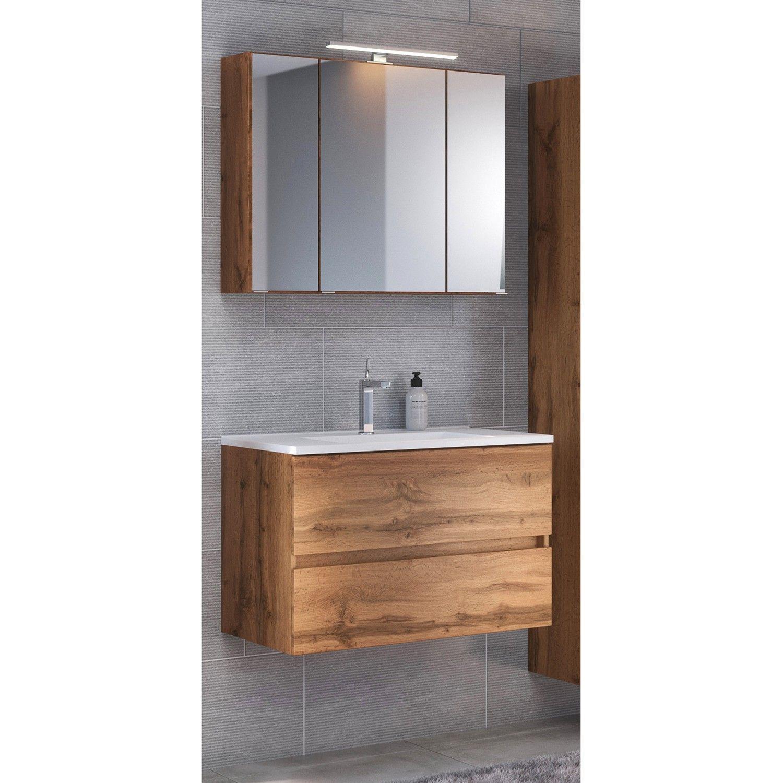 Badezimmerset Tira 2 Teilig Waschtisch Set Unterschrank Und Spiegelschrank