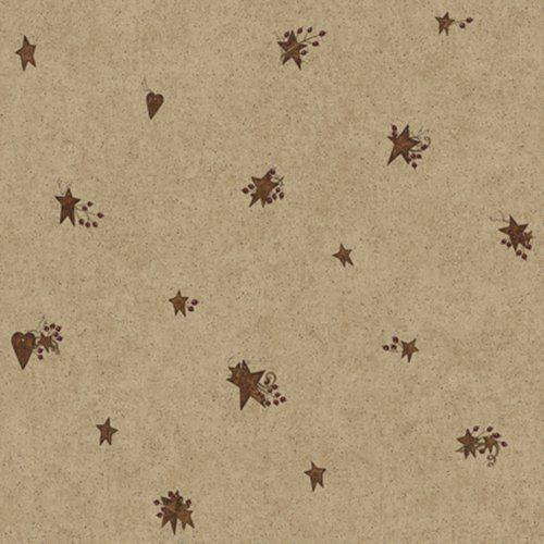 York Wallcoverings Home Tin Star & Heart Wallpaper