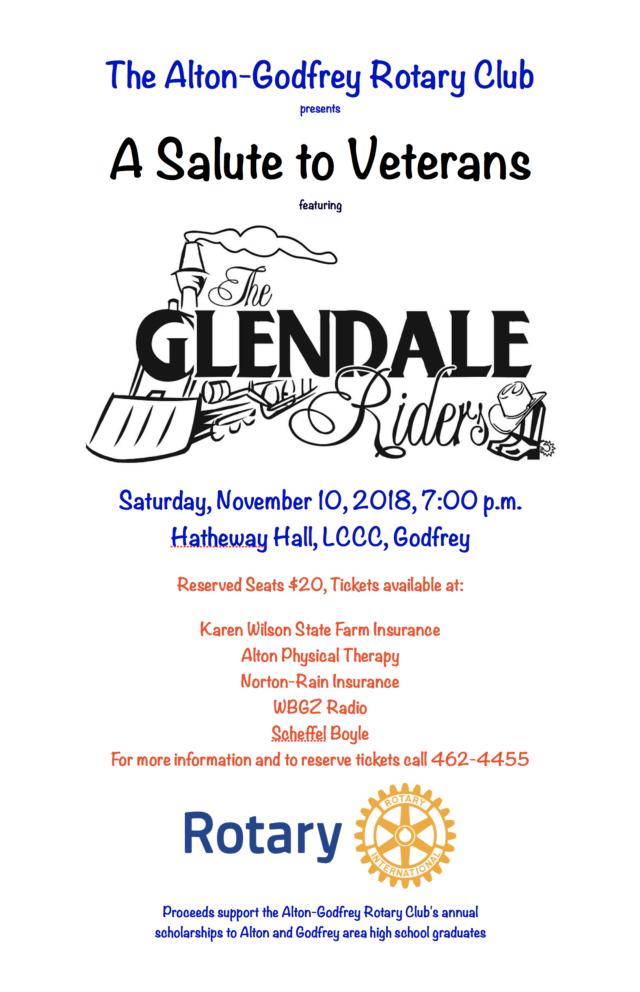 Alton Godfrey Rotary Presents A Salute To Veterans Saturday November 10 2018 7 00 Pm 10 00 Pm Lewis And Clark Com State Farm Insurance Edwardsville Alton