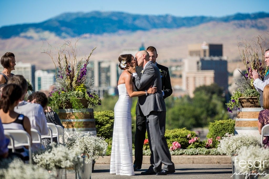 Train depot boise wedding