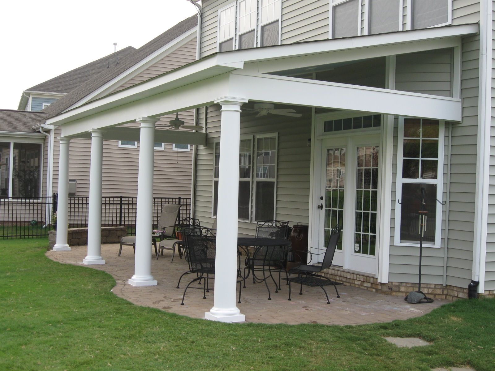 Back porch roof ideas - 17 Best Images About Covered Porches On Pinterest Porch Roof Steel Beams And Covered Patios