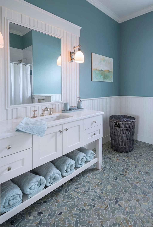 Awesome coastal style nautical bathroom designs ideas (6 ...