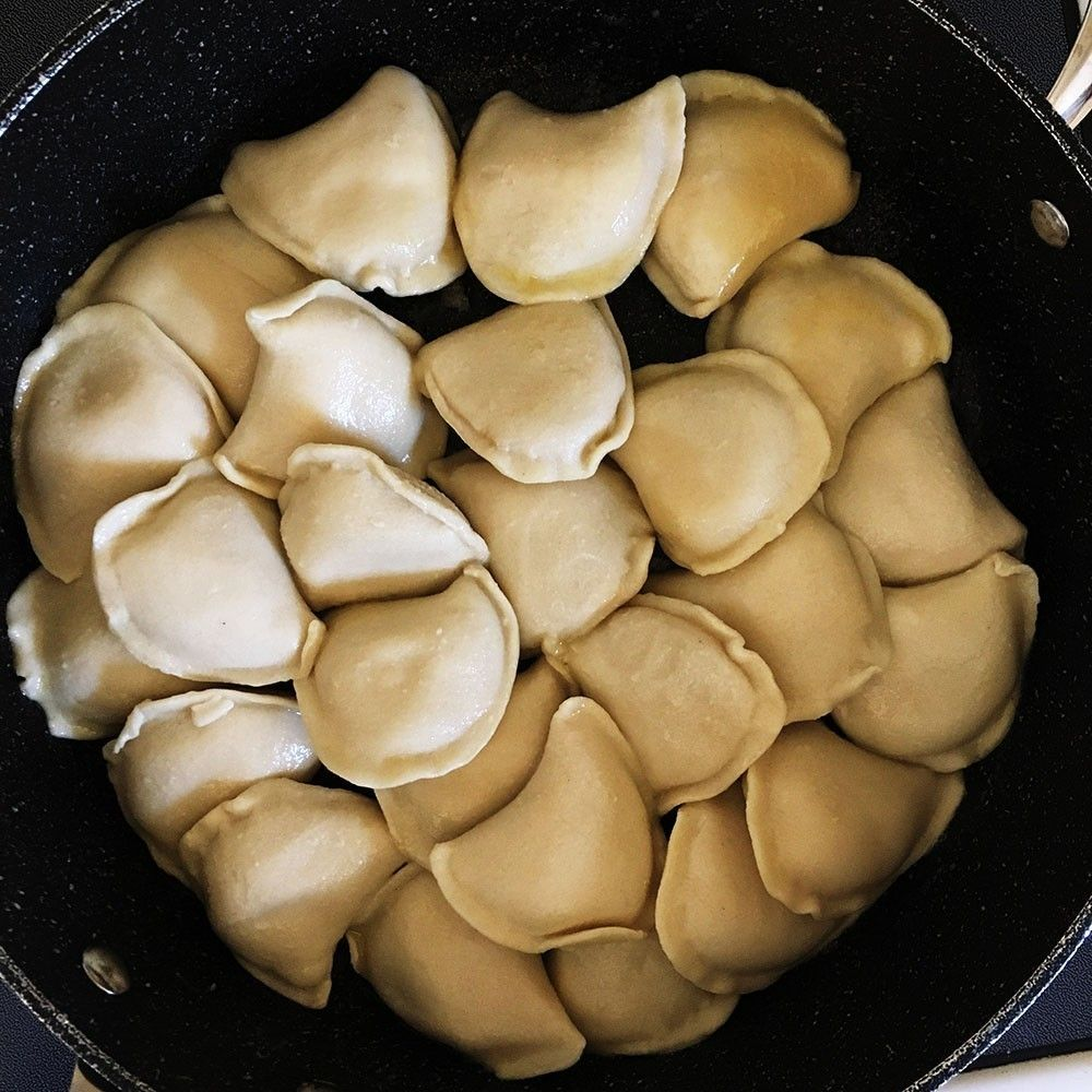 The best way to cook frozen pierogies. Frozen pierogies