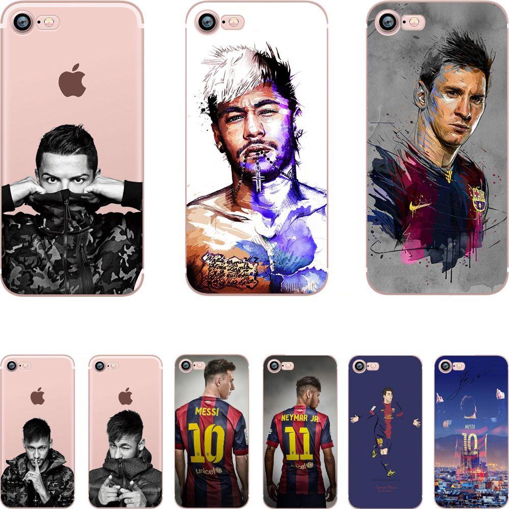 바르셀로나 2017 메시 neymar 호나우두 투명 클리어 부드러운 실리콘 tpu case 커버 apple iphone 7 7 플러스 5 초 se 6 6 초 6 플러스