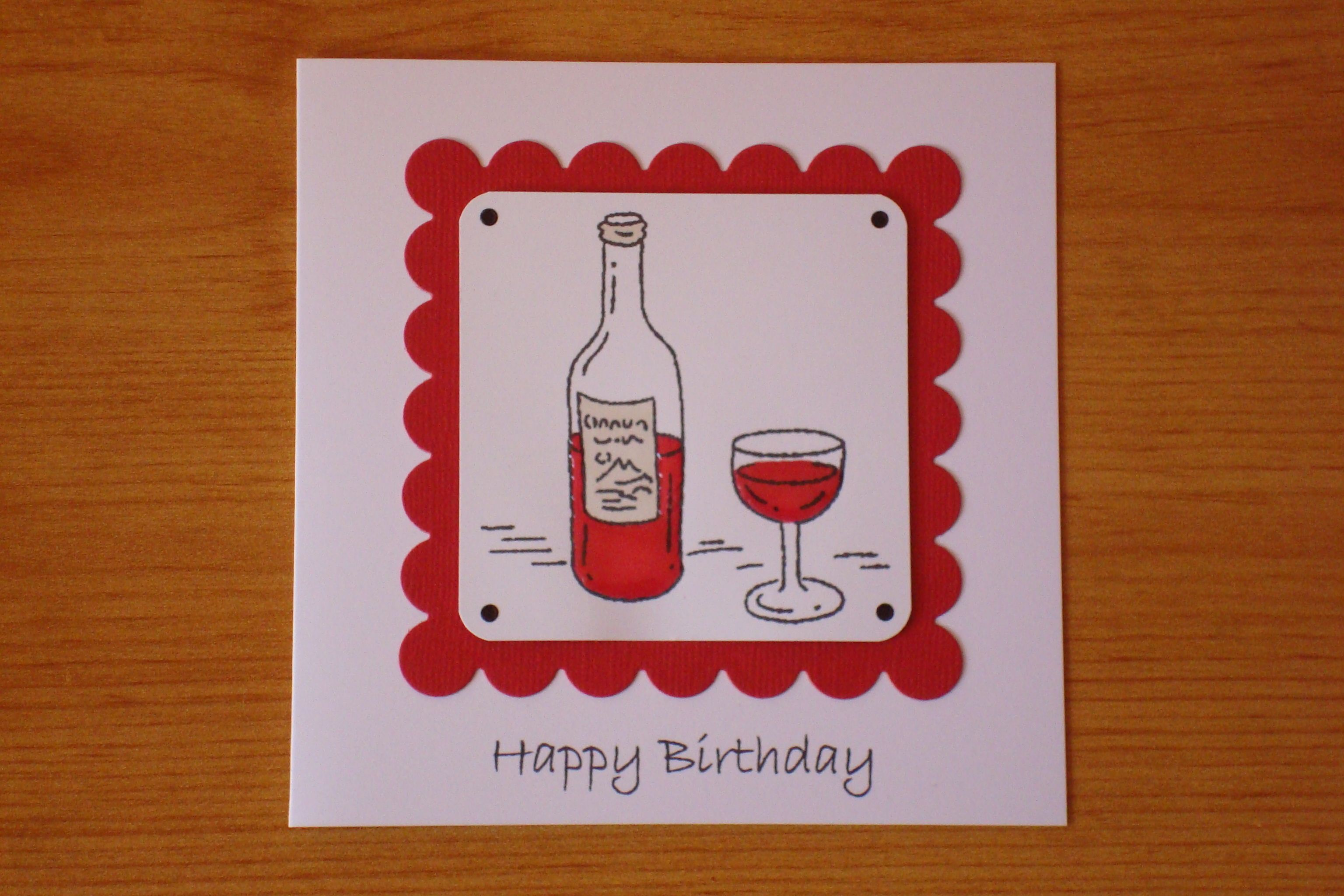 Happy Birthday Male Wine ~ Red wine my male cards