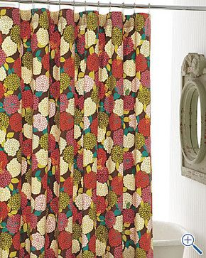 Zinnia Shower Curtain Contemporary Shower Curtains By Garnet