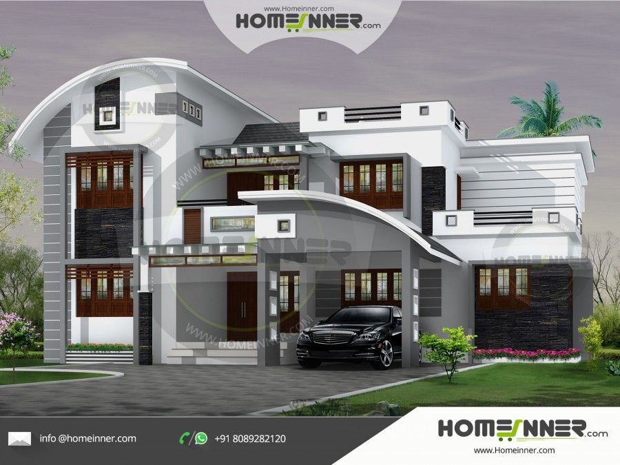 Hind 0087 Architectural House Plan Villa Floor Plan Package Unique House Plans Kerala House Design Beautiful House Plans