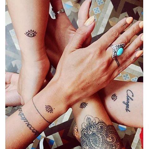 Matching Tatts On Lolasletter Janinazais Toniiiiiiia Hulya1612 Littletattoolove Littletattoo Smal Evil Eye Tattoo Eye Tattoo Meaning Eye Tattoo