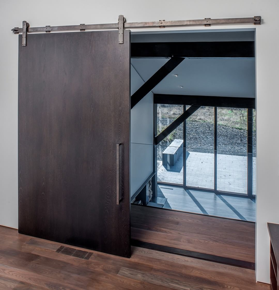 A barn door is a beautiful statement piece for a home featuring the