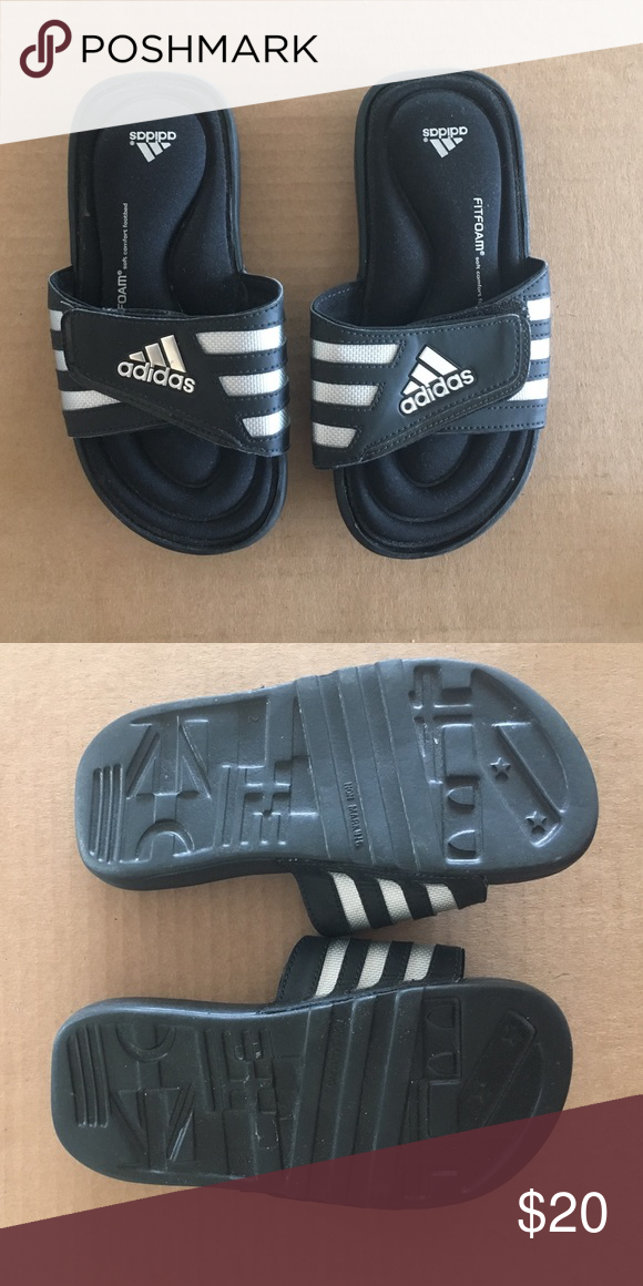 fbec1de66 Kids Adidas sides NWOT Adidas Fit Foam soft comfort footbed slides Adidas  Shoes Sandals   Flip Flops