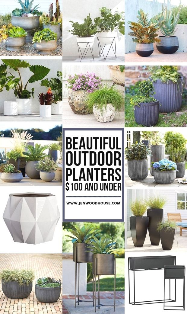 Beautiful Outdoor Planters 100 and Under