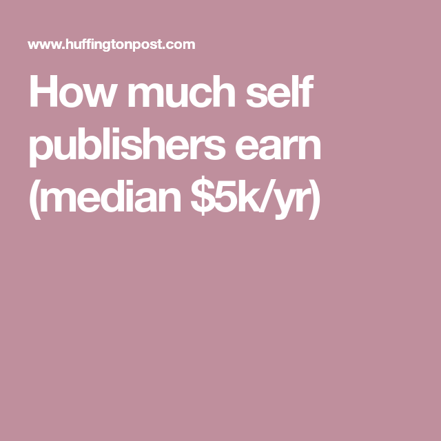 How Much Can A Self-Publisher Make?