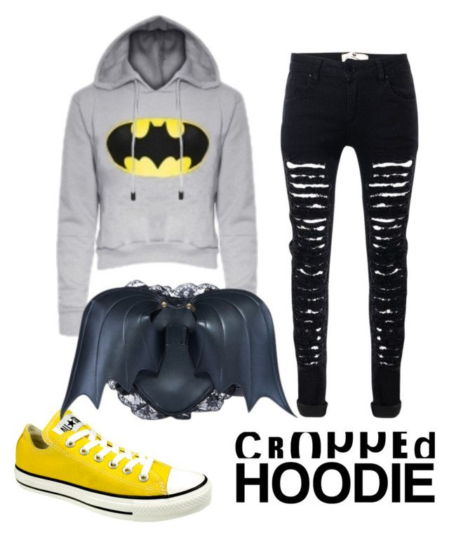"""BatWOman"" by emeraldz ❤ liked on Polyvore featuring Converse"