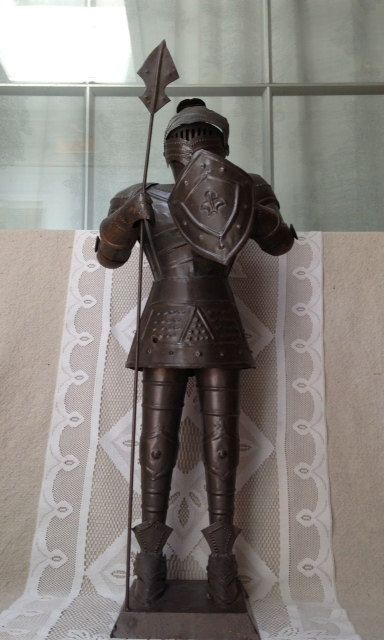 Reserved For Heather Vintage Metal Suit Of Armor Standing