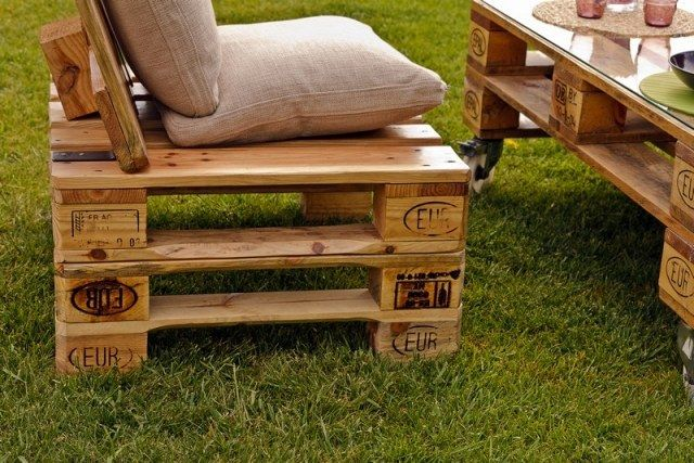 Paletten Outdoor Möbel Europaletten Sessel Tisch | Recycling ... Tisch Fur Balkon Outdoor Bereich