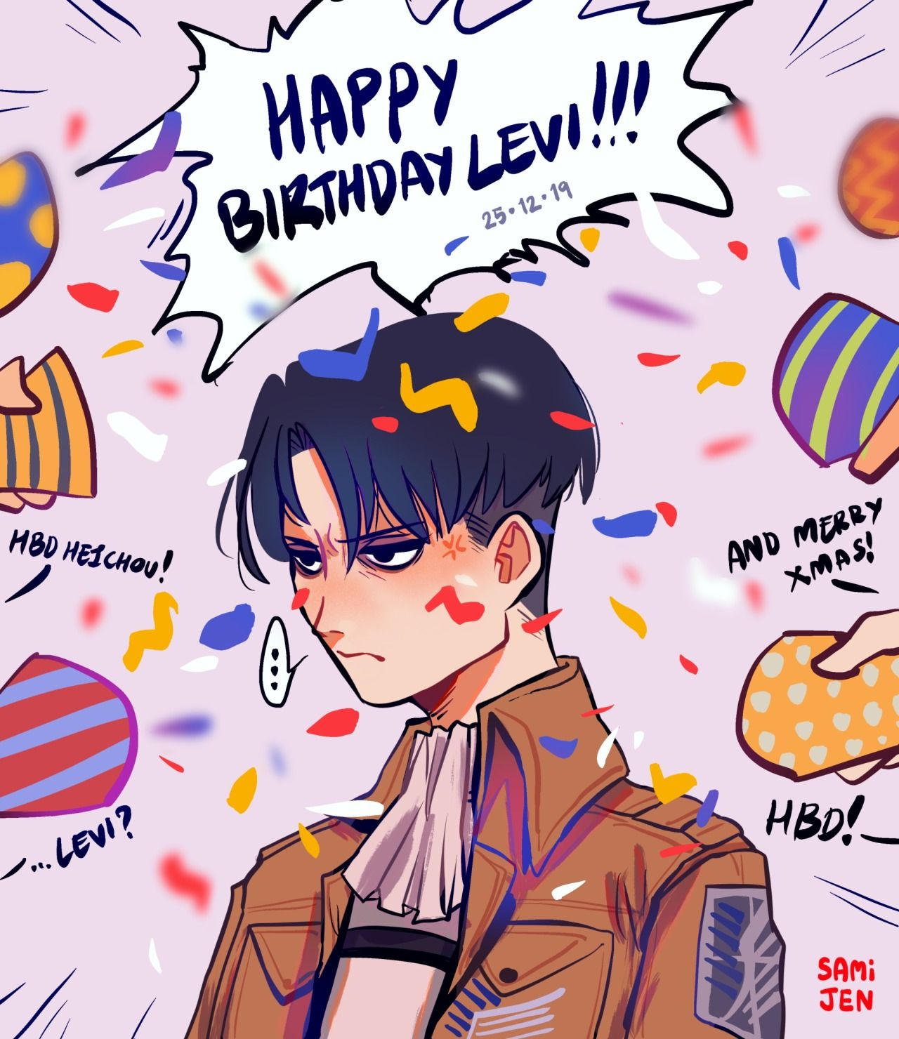 Sami Jen — christmas?? you mean LEVI'S BIRTHDAY???!! (With