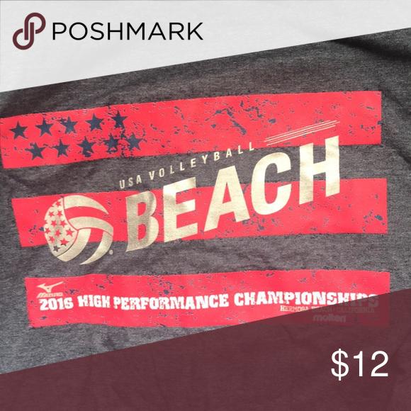 Usa Volleyball Beach High Performance T Shirt Blue Usa Volleyball Bella Canvas Shirt Beach