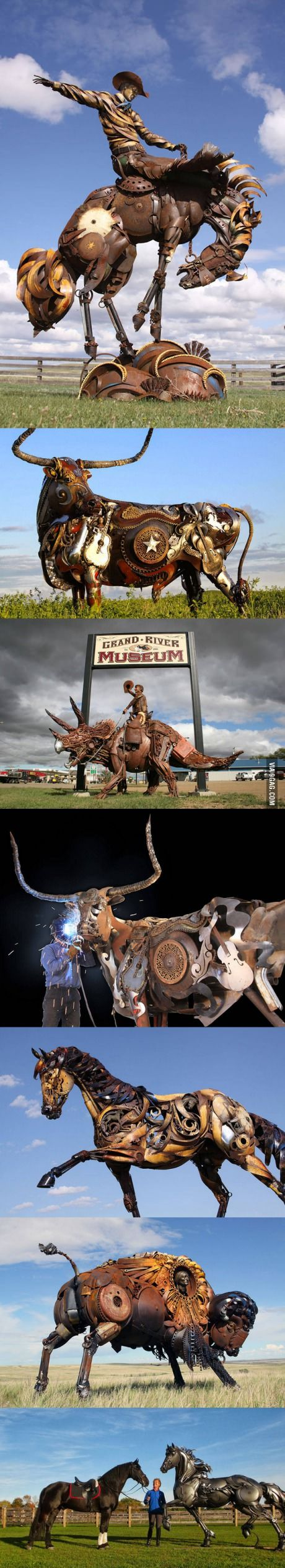 John Lopez creates the most amazing sculptures using old