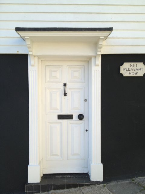 Ivory White Georgian Front Door spotted in Lyme Regis | home {doors ...