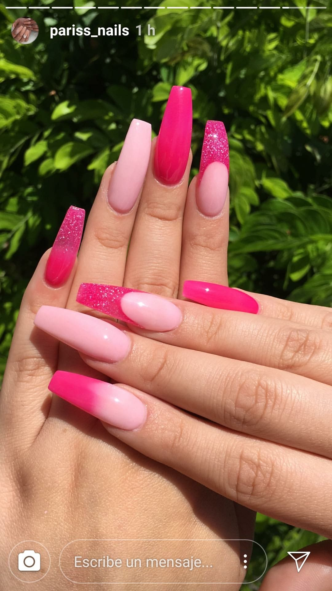 Pin By Chioma S Place On Nails Inspiration Pink Acrylic Nails Pink Ombre Nails Acrylic Nails Coffin Pink