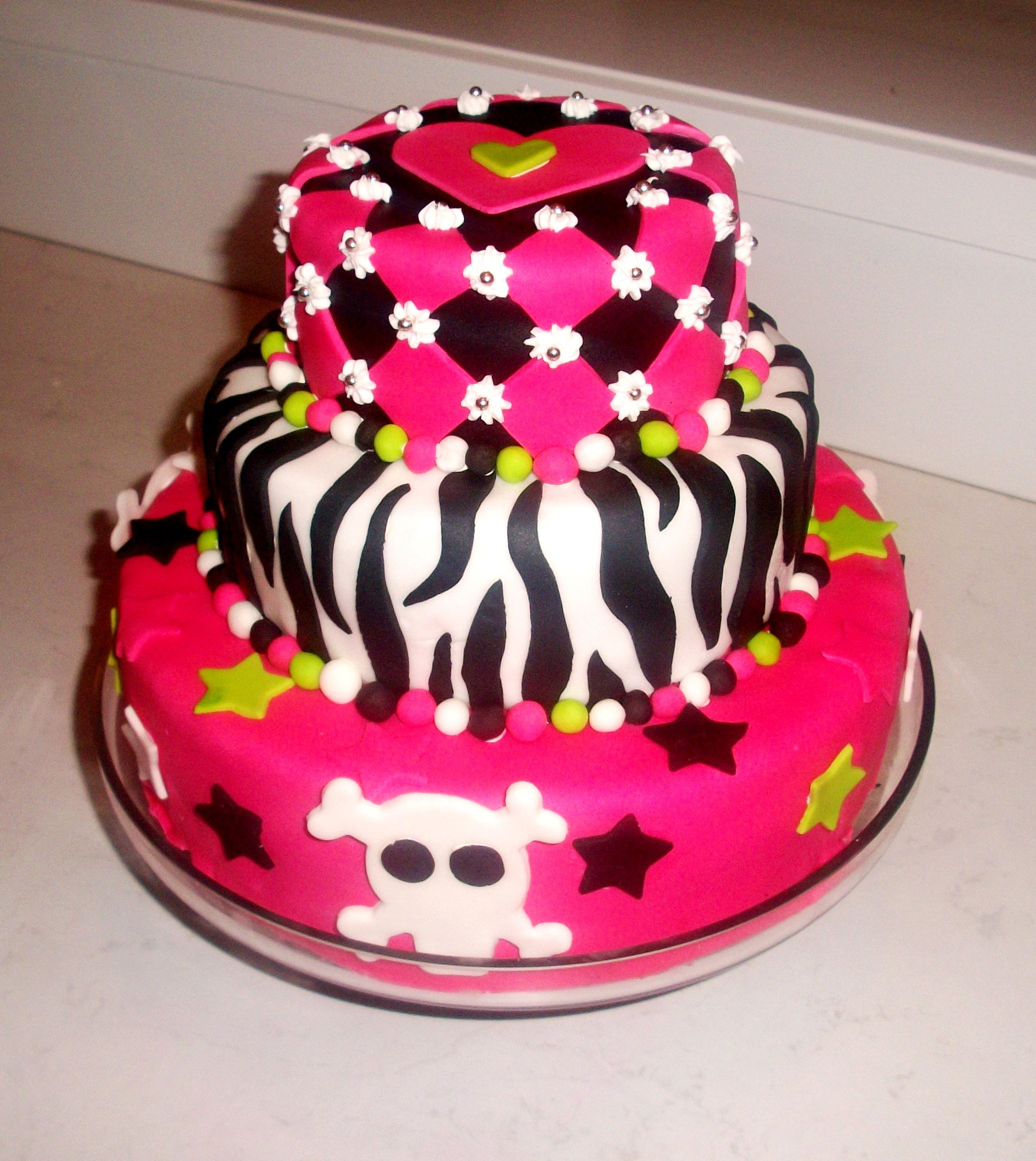 Idea For First Birthday Cake. Theme-Punk Princess