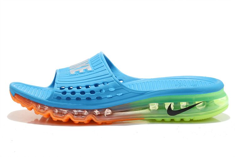 a8533ab60ed8 2015 Nike Air Max Flip Flop for men in Turquoise Orange
