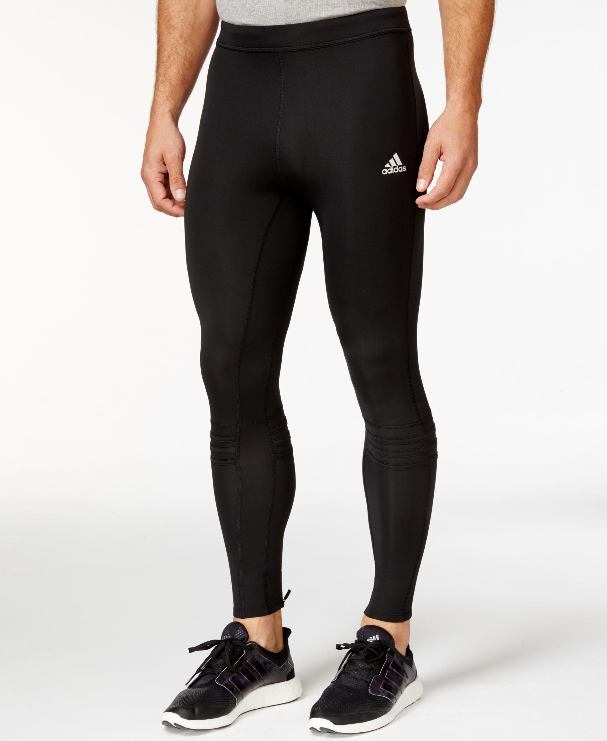 adidas Mens Supernova Tights Bottoms Pants Trousers Black Sports Running