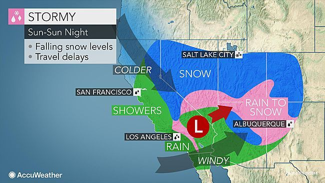 El Nino Driven Storm To Blast California Southwestern Us With Rain And Snow El Nino Extreme Weather Weather Patterns