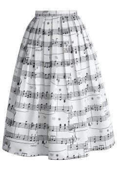 043ec91f11 Dance With Music Notes Pleated Midi Skirt | Vintage in 2019 ...