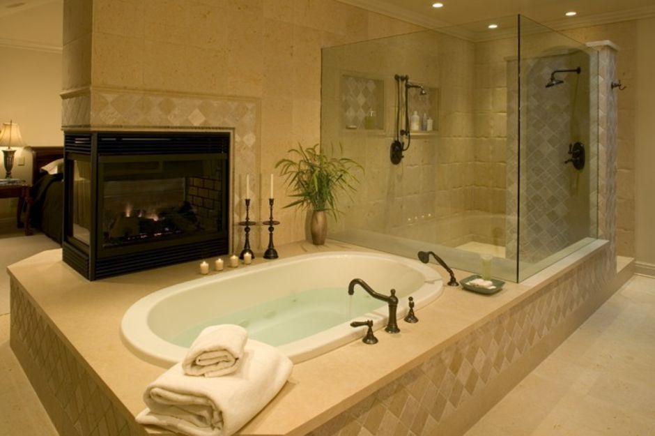 Bathroom Idea No Fireplace Ideas And Design With 5 Photos