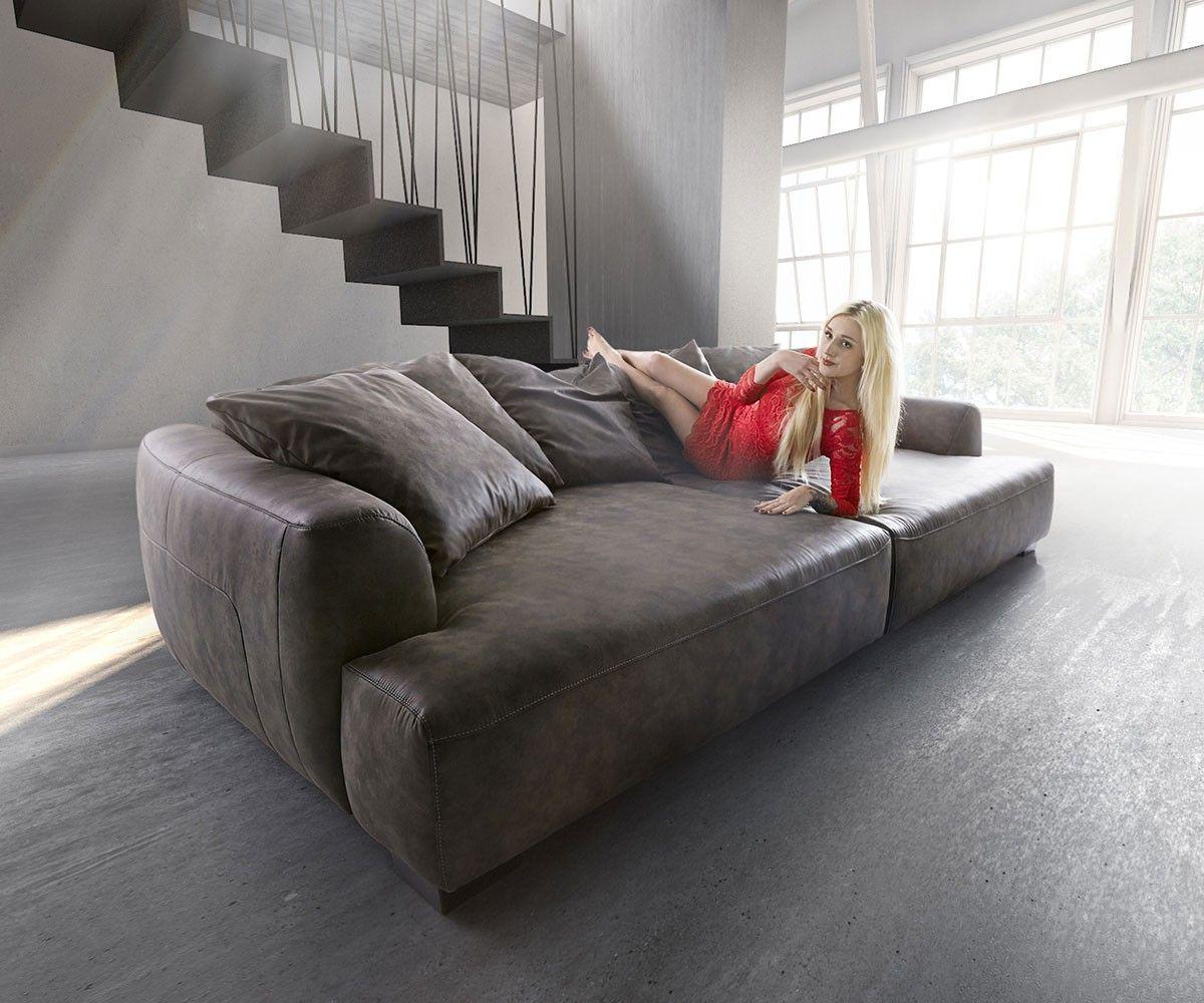 Big Sofa Kingsize 280x140 Cm Anthrazit Vintage By Ultsch