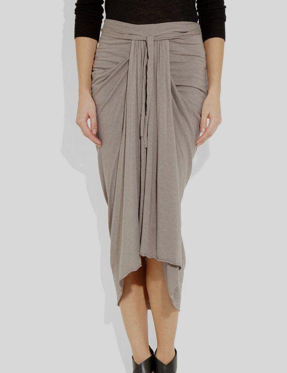 612d327a80 Spring ruched jersey midi skirt. draped skirt. Midi.Womens skirt. PLus  sizes. Mint green, mocha, turquoise, pink, black jersey. $80.00, via Etsy.