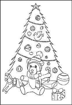 ausmalbild - weihnachtsbaum und tannenbaum | ausmalbilder, ausmalbilder weihnachtsmann, ausmalen