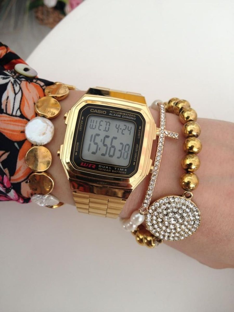 Mix Fashion 20 Combinações Com Relógio Casio Retrô Atl Girls Relógio Casio Relogios Relógios Pulseira