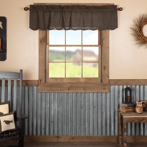 Kettle Grove Valance Primitive Home In 2019 Primitive Curtains Primitive Homes Primitive Kitchen