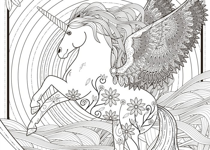 Final Unicorn Coloring Page Pic Coloring Pages Pinterest Adult