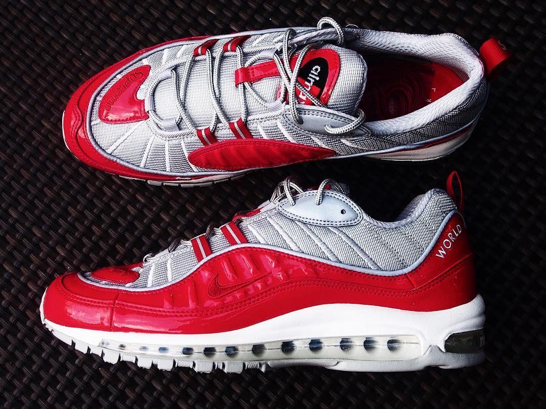 sale retailer a2763 6e72a Nike x Supreme Air Max 98 @hypebeast #hypebeast ...