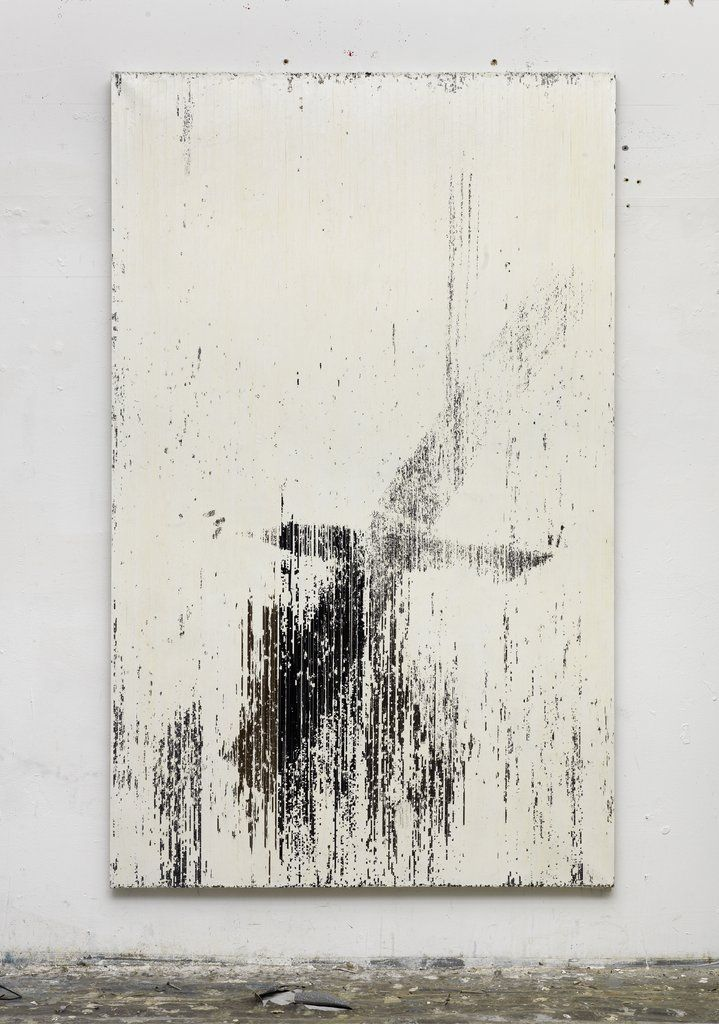 "<p><span class=""artist"">Gregor Hildebrandt</span><br><span class=""title"">""1:1 ist jetzt vorbei (Trickser IV Toco)"", 2013</span></p><p><span>Cassette tape and dispersion on canvas</span><br><span>209 x 129 cm</span><br></p>"