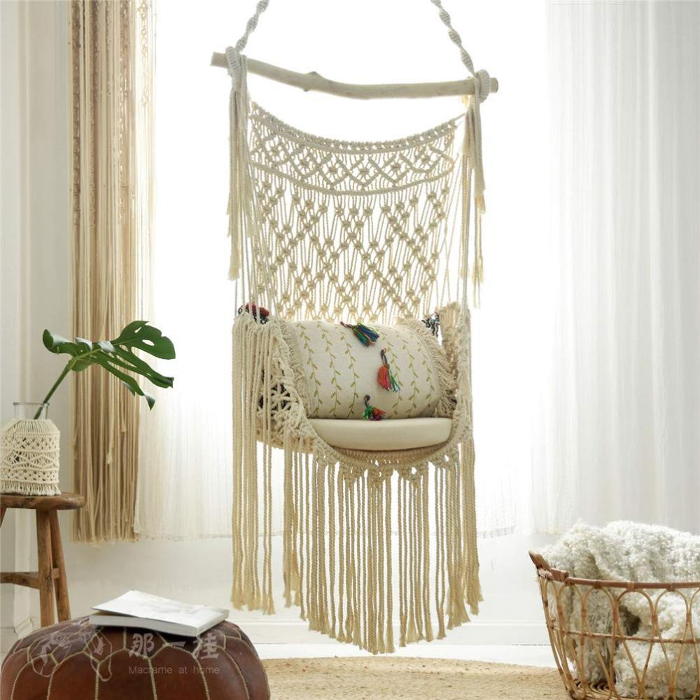 Boho Chic And Romantic Diy Macrame Hammock Chair In 2020 Diy Hammock Chair Diy Hanging Chair Macrame Hanging Chair
