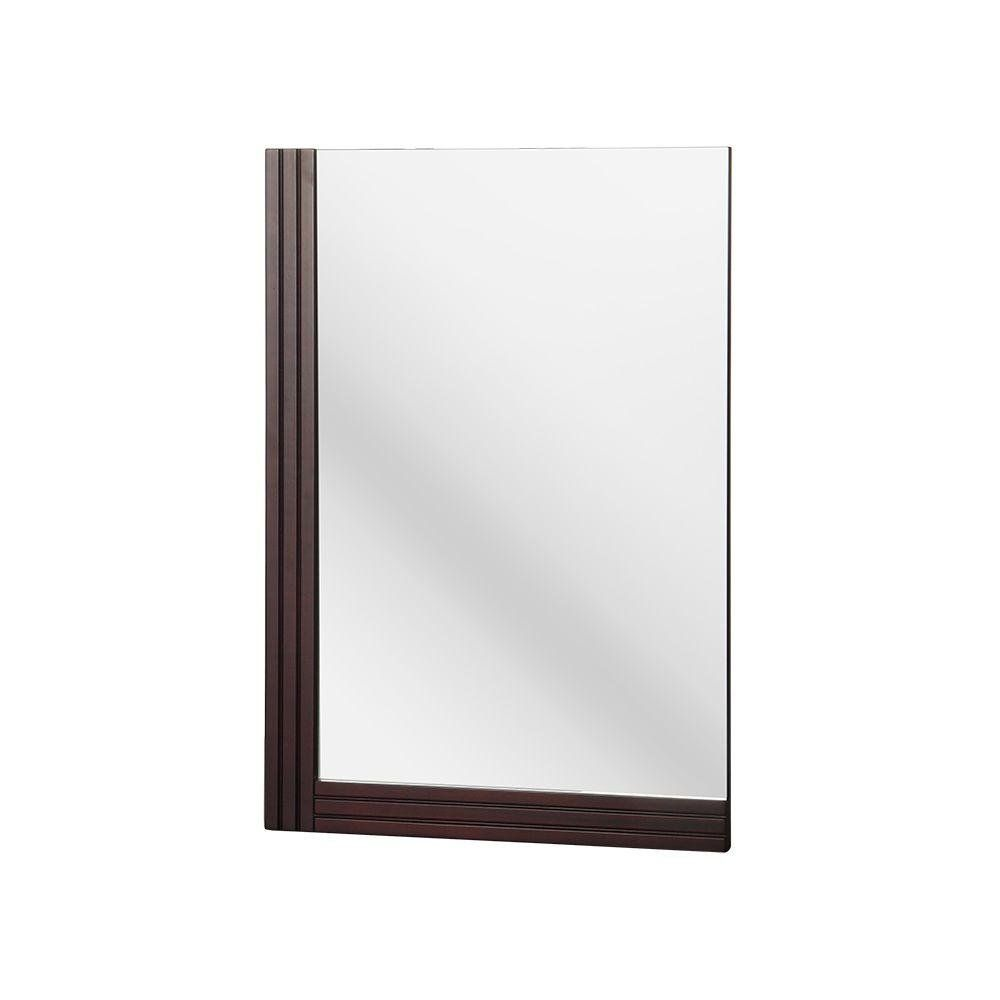 Foremost Elrm1728 Ellis 25 Inch X 17 Inch Wall Mirror Dark Walnut Overall Dimensions 17 In W X 1 1 4 In D X 25 In Mirror Wall Mirror Wall Mounted Mirror