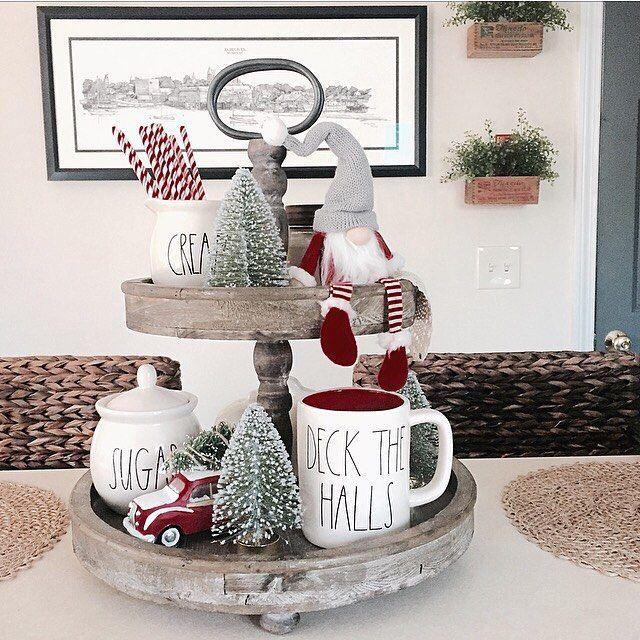 "Farmhouse Kitchen Christmas Decor: ""Deck The Halls With Lots Of Rae Dunn Falalalala Lalala"