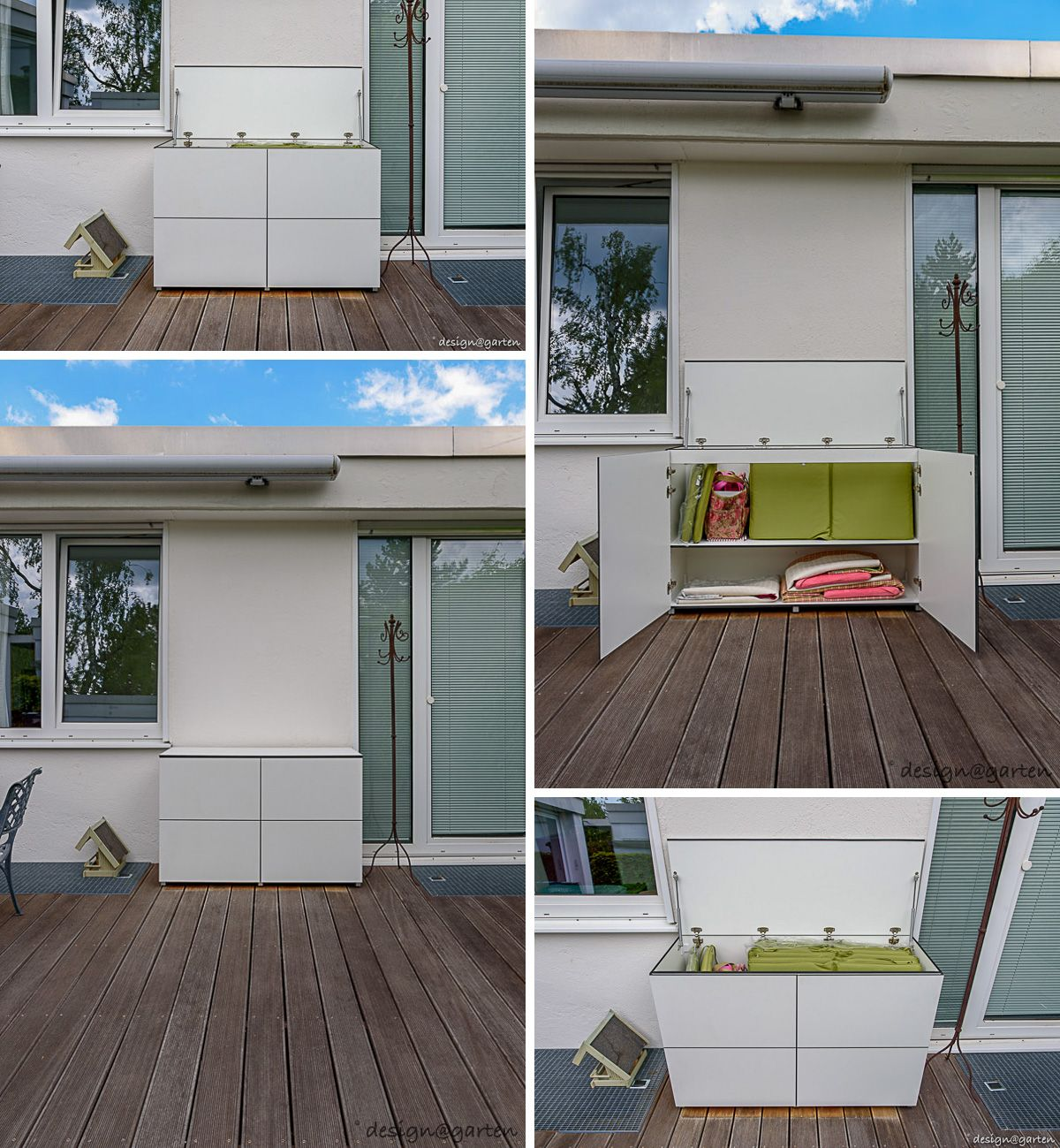 Balkonschrank Terrassenschrank Win By Design Garten Augsburg Mit Turen Tip On Und Klappe Farbe Weiss Wetterfest Gartenschrank Balkonschrank Garten