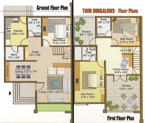 floor plans for bungalows - Google Search