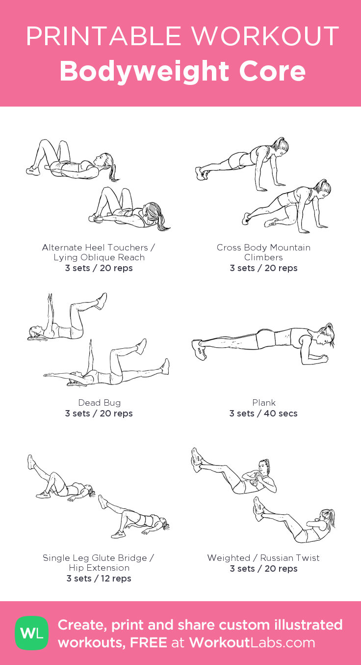 Bodyweight Core Workout Posted by