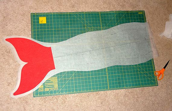Mermaid Tail Sewing Pattern Size 8 10 Pdf Download Little Mermaid