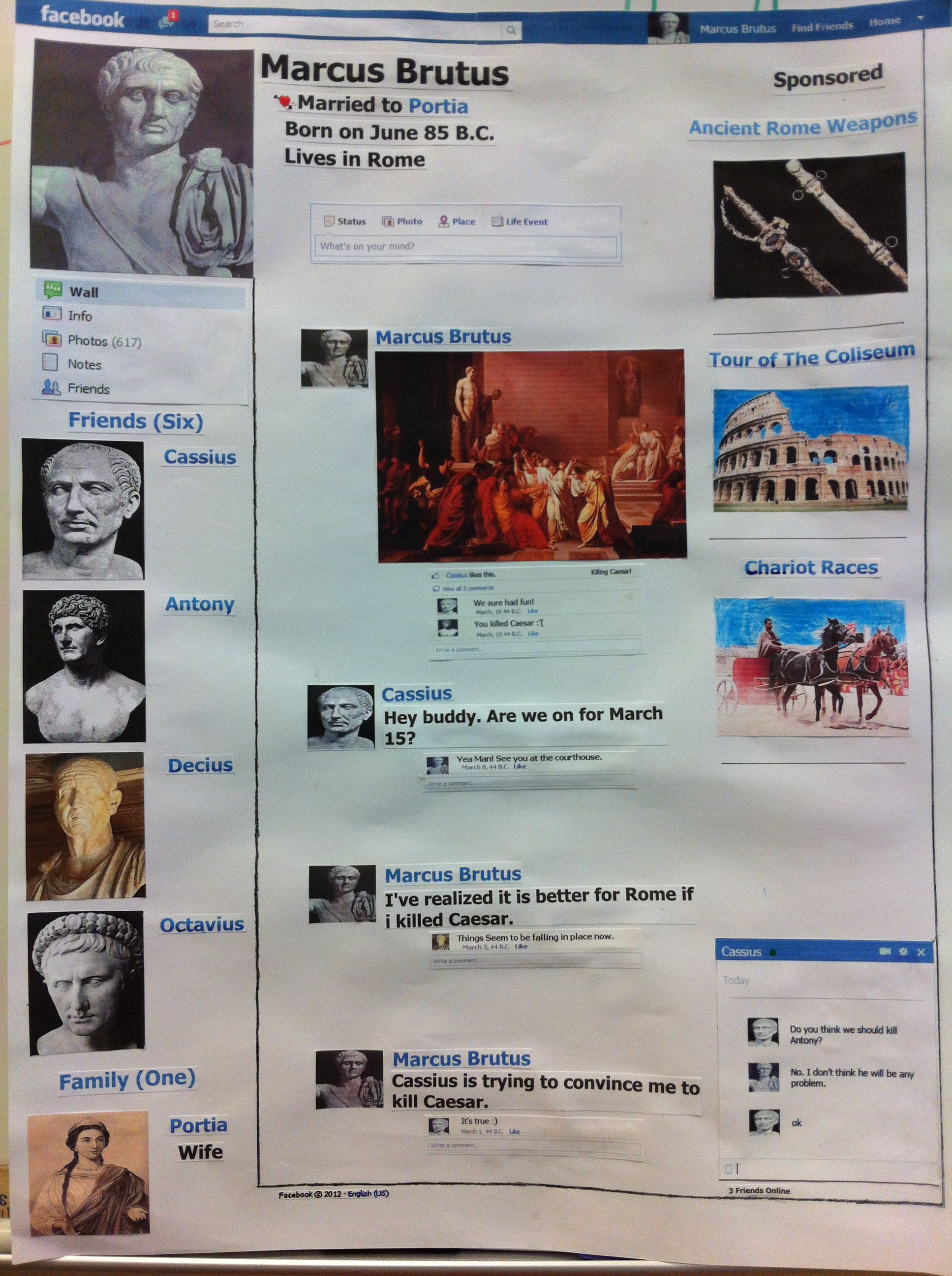 A Facebook Page Of Marcus Brutus Friends Of Caesar
